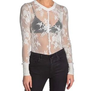 NEW Free People Lace Long Sleeve Layering Top